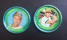 1971 Topps Coin #123 Willie Stargell #15 Bill Mazeroski Pirates Hof EX+  Nm