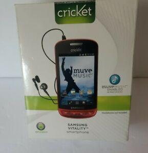 Samsung SCH R720 Vitality Metallic Red CDMA Smart Phone Cricket Wireless 3G