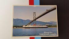 Princess of Vancouver ship, Lions gate bridge Canada Postcard post card