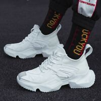 Stylish Mens Strentchy High Top Lace Up Socks Shoes Street Hip Pop Casual Shoes