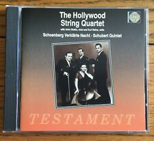 Schoenberg - Verklarte Nacht Op. 4 for string sextet CD Testament, Hollywood Qrt
