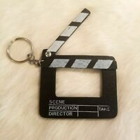Movie Clapperboard Photo Opening Black White Keychain Movable Scene Take 1966
