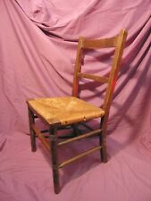 Antique Childs / Dolls Wooden Chair Woven Seat