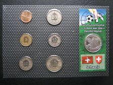 Switzerland 1975-2004 Coin Set Rappen - Franc + 2006 Silver Football Medal ~ COA