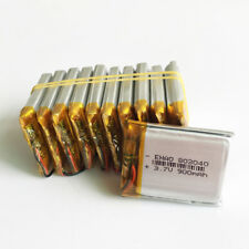 10 pcs 3.7V 900mAh Lipo Polymer Battery ion for cell phone Camera DVD PAD 803040