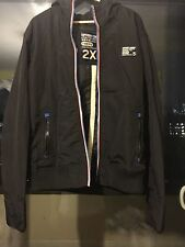 MENS SUPERDRY 2XL LARGE BLACK ATHLETIC EDITION WINDBREAKER CASUAL JACKET COAT