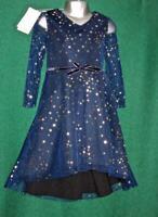 New MONSOON Girls Age 5 Sparkly Blue Gold Star NOVA Scuba Party Bridesmaid Dress