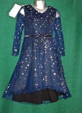 New MONSOON Girls Age 5 Sparkly Blue Gold Star NOVA Scuba Party Christmas Dress