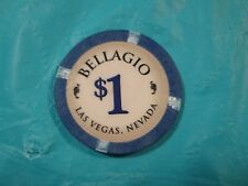BELLAGIO HOTEL/CASINO LAS VEGAS NEVADA $1 CASINO CHIP GOOD CONDITION