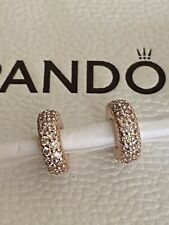 Pandora Rose Gold Clear Sparkle Spacer Charm