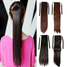 Real Clip in Hair Extension As Human Pony Tail Wrap Around Ponytail 4 Colors