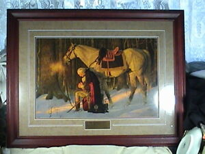 Arnold Friberg The prayer At Valley Forge W/Certificate