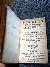 Kenelm Digby - Discours fait en une célèbre assemblée...