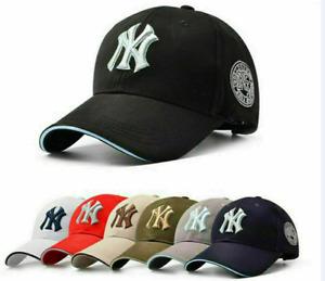 NEW Unisex Mens Womens Baseball Cap Adjustable NY Snapback Sport Hip-Hop Sun Hat