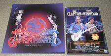 Eric Clapton 2011 Japan tour book + Promo Flyer Steve Winwood Concert Programme