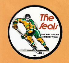 "RARE VINTAGE 1960's NHL OAKLAND SEALS 3 1/2"" DECAL OLD TEAM STOCK CALIFORNIA"