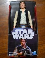 ~ STAR WARS DISNEY HASBRO 5.5 INCH HAN SOLO ACTION TOY FIGURINE NEW IN PACKAGE ~