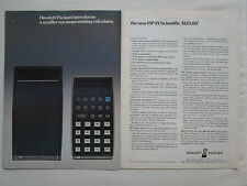 2/1975 PUB HP HEWLETT PACKARD HP-21 SCIENTIFIC CALCULATOR CALCULATRICE AD