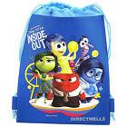 Disney Pixar Inside Out Authentic Licensed Blue Drawstring Bag