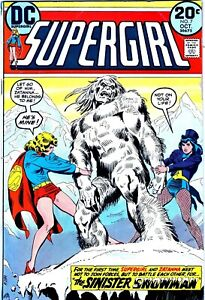 SUPERGIRL #7 THE SINISTER SNOWMAN!! ZATANNA!! DC!! Oct 1973!-NO RESERVE!