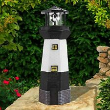 Traditional Solar Power Lighthouse With Rotating LED Garden Decoration Ornament