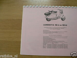 L0005 LAMBRETTA---TECHNICAL INFO 150D + 150LD----MODELYEAR ABOUT-->1954