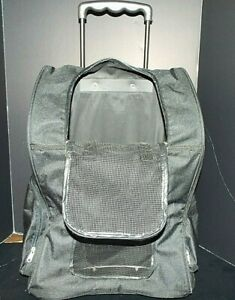 PET -WHEEL AWAY Pet Wheel Carrier/ Car seat/Bed/ Backpack Large Dark black 30 LB