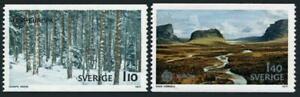 Sweden 1210-1211,MNH.Michel 989-990. EUROPE CEPT-1977.Forest in snow.Valley.