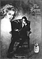 1972 Woman Art The Baron for Gentlemen Evyan Perfumes vintage Print Ad ads81