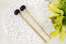 WuYou 3-in-1 Steel Drum Handpan Mallets Drum Sticks, 3 level hardness, Black