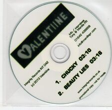 (EG16) Valentine, Chucky / Beauty Lies - 2013 DJ CD