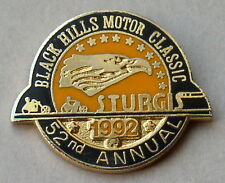 """VERY RARE"" STURGIS CHAMBER SOUTH DAKOTA 52nd ANNUAL 1992 RALLY VEST PIN"