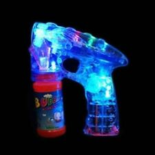 3 x LED FLASHING BUBBLE GUNS CHILDS BUBBLE GENERATOR