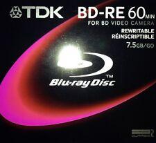 TDK Rewritable Blu-ray Disc BD-RE75A,8cm,7.5GB,Camera,for BD Video Camera