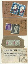 1900/72  3 St ANDREWS PARCEL POST PIECES INCL LABEL WITH PAIR 2d JUBILEE STAMPS