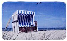 Badteppich Strandkorb - Duschvorleger, 100 % Polyester, mehrfarbig von WENKO