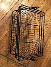 Vintage coated metal basket Black With Handle