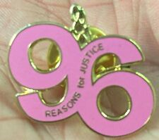 LIVERPOOL CUTOUT PINK 96 REASONS FOR JUSTICE  ENAMEL PIN BADGE