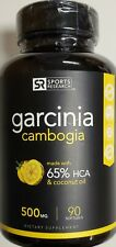 Sports Research Garcinia Cambogia 500 MG 65% HCA & Coconut Oil  90 tabs exp 3/20
