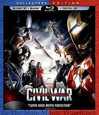 Disney Marvel Captain America vs. Iron Man Civil War 3D Blu-ray and Digital Copy