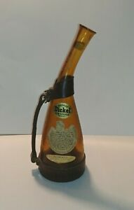 Vintage Rare George Dickel Tennessee Souvenir Whiskey Bottle w/ Harness.