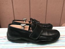 EUC PRADA Loafer Black Leather Strap Men's Size US 10 Made In Italy