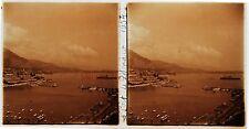 Monaco Monte Carlo Stéréo amateur Plaque de verrepos. 1934 Vintage 7x13cm