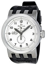 New Men's Invicta 10389 DNA Light Silver Dial Black Silicone Watch