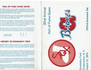 1974 Chicago White Sox vs. Atlanta Braves HOF GAME program, unscored