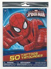 Spider-Man Ultimate 50 Marvel Temporary Multi Tattoos Birthday Party Activity