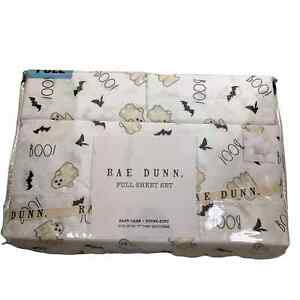 Rae Dunn Boo Full Halloween Sheet Set Ghosts Bats Spooky Home Decor Bed Ghouls