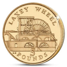SALE IOM ISLE OF MAN 5 POUNDS LAXEY WHEEL 2013 UNC