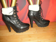 """TopShop Women's Very High Heel (greater than 4.5"""") Lace Up Boots"""