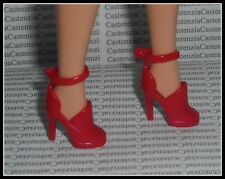 SHOES BARBIE MATTEL DOLL WORKING WOMAN RED HIGH HEEL ANKLE STRAP SANDALS DIORAMA